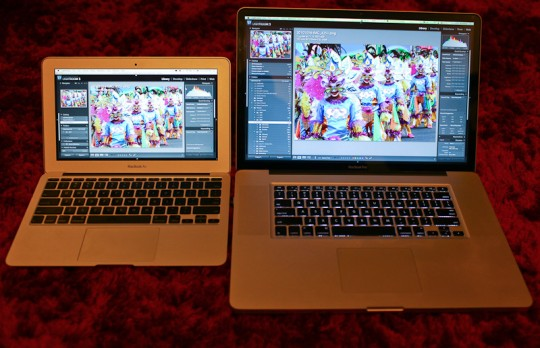 IMG 8961 540x348 11 inch MacBook Air vs 17 inch MacBook Pro vs iPad