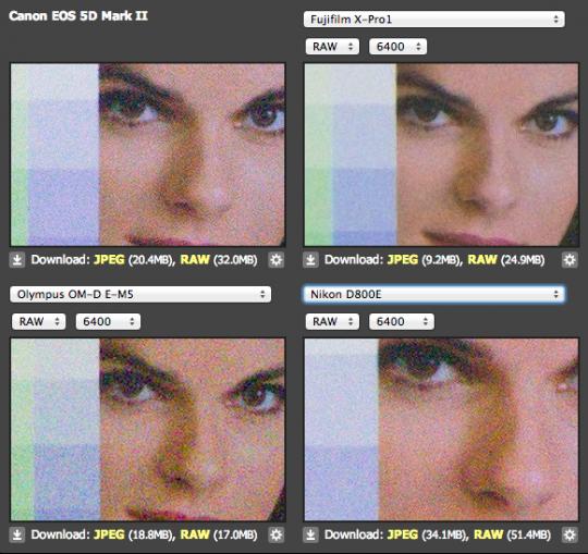 Fuij X ISO 6400 RAW