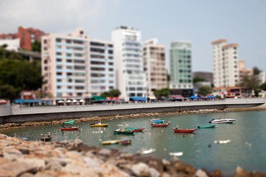 hong kong tiltshift Tilt/Shift with Photoshop: Hong Kong   Stanley